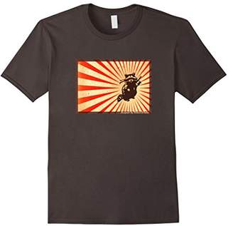 Brave Ninja Racoon on T-Shirt designed by Berlin-Shades