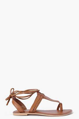 boohoo Boutique Toe Post Ghillie Sandals