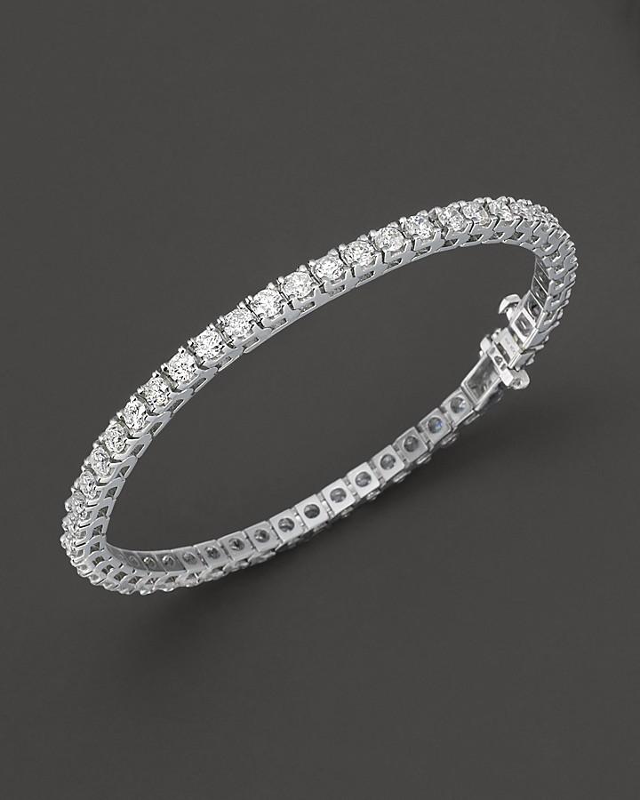 Bloomingdale's Diamond Tennis Bracelet in 14 Kt. White Gold, 8.0 ct. t.w.