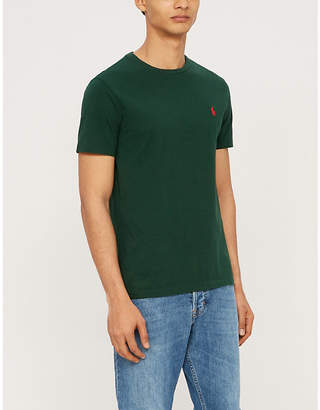 Polo Ralph Lauren Logo-embroidered slim-fit cotton-jersey T-shirt