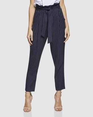 Oxford Sloane Pinstripe Paperbag Pants