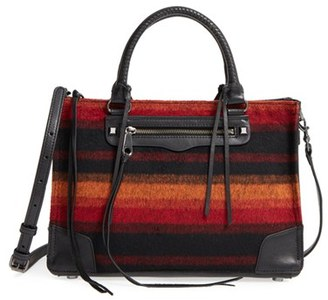 Rebecca Minkoff Regan Felt & Leather Satchel - Red $325 thestylecure.com
