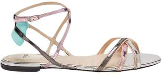 Fendi open toe strappy sandals