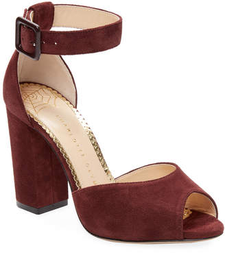 Charlotte Olympia Eugenie Suede Sandal