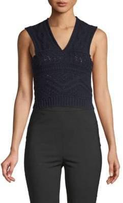 Valentino Crocheted Sleeveless Top