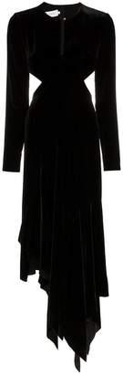 Marques Almeida Marques'almeida asymmetric cutout silk blend velvet dress