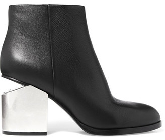 Alexander Wang - Gabi Leather Ankle Boots - Black $775 thestylecure.com