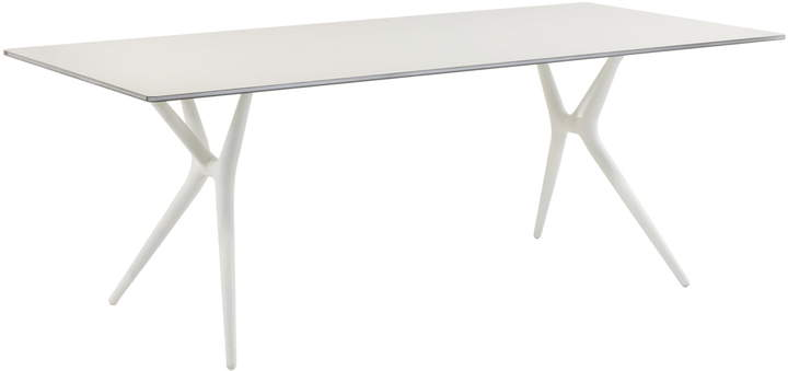 Spoon Table, 200 cm, Weiß / Weiß