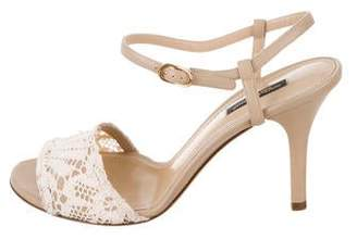 Dolce & Gabbana Leather Ankle Strap Sandals