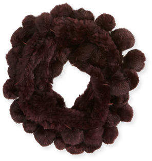 Adrienne Landau Rabbit Fur Pull-Through Scarf