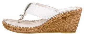 Burberry Thong Espadrille Wedges