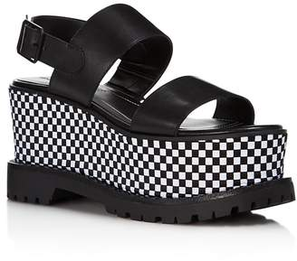 KENDALL + KYLIE Women's Cady Leather Platform Sandals