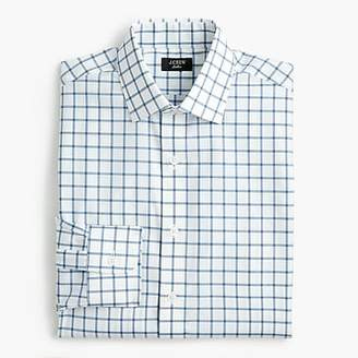 J.Crew Ludlow stretch two-ply easy-care cotton dress shirt in mini windowpane