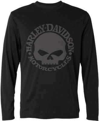 Harley-Davidson Y-CAXY Men's Skull Long Sleeve T Shirts