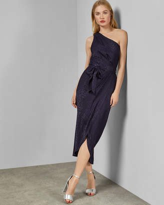 Ted Baker ZOEII Animal jacquard asymmetric dress