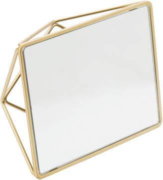 Famous Designer Metal Geo Vanity Mirror