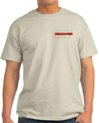 Redline CafePress - Sky Ash Grey T-Shirt - 100% Cotton T-Shirt