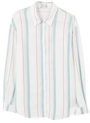 MANGO Metallic striped shirt
