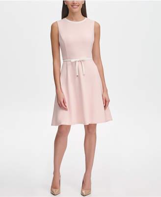 Tommy Hilfiger Tie-Waist Scuba Crepe Dress
