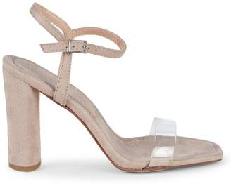 BCBGeneration Ilsie Micro Suede and PVC Block-Heel Sandals