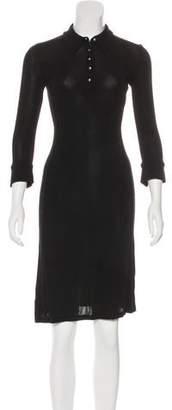 Diane von Furstenberg Knit Sheer Dress