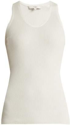 Tibi Scoop-neck ribbed-knit tank top