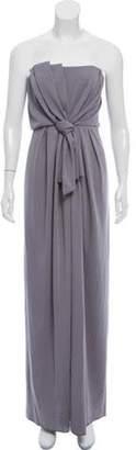 Marc Jacobs Strapless Evening Dress grey Strapless Evening Dress
