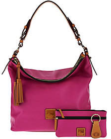 As Is Dooney & Bourke Smooth Leather Hobo $179 thestylecure.com