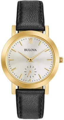 Bulova Women's Black Leather Strap Watch 32mm 97L159 $225 thestylecure.com