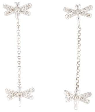 Sydney Evan 14K Dragonfly Drop Earrings