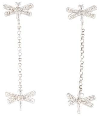 Sydney Evan 14K Dragonfly Drop Earrings