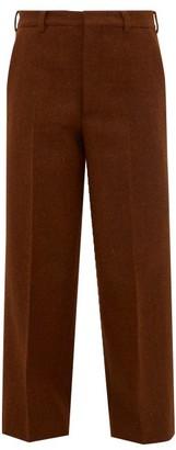 Raey Flood Crop Wool Harris Tweed Tailored Trousers - Womens - Bronze