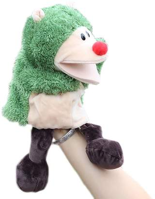 Yair Yangtze Green Hedgehog Hand Puppets for Kids Cute Animal Plush Puppets with Movable Mouth