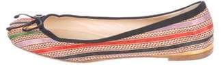 Christian Louboutin Striped Ballet Flats