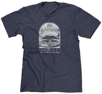 Kahuna FreshRags Big Burger Funny Pulp Fiction Fast Food Parody Men's T-Shirt LG HTR. Navy