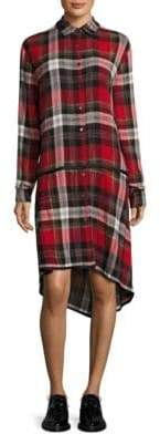 Public School Ilha Plaid Shirt Dress
