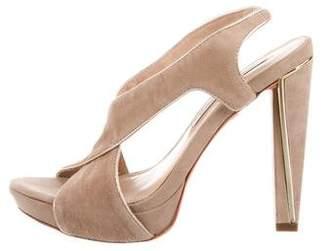 Diane von Furstenberg Suede Round-Toe Sandals