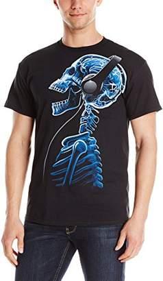 Liquid Blue Men's Plus-Size Skelephones T-Shirt