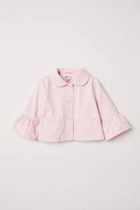 H&M Jacket with Eyelet Embroidery - Pink