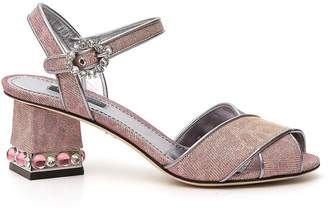Dolce & Gabbana Jewelled Heel Sandals