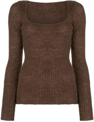 Jacquemus ribbed knit fitted sweater