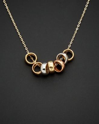 14K Italian Gold Tri-Tone Necklace