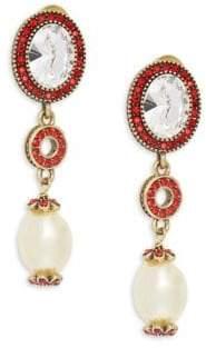 Heidi Daus Baroque Linear Drop Earrings