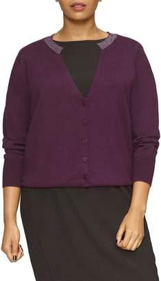 Universal Standard Deep V-Neck Merino Wool Cardigan