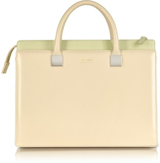 Linda Farrow Anniversary Ayers and Leather Tote