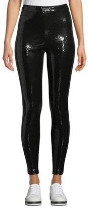 Alice + Olivia Zendaya Sequin Pull-Up Leggings