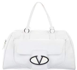Valentino Pebbled Leather Handle Bag