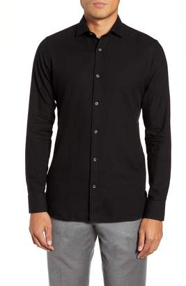 Ermenegildo Zegna Trim Fit Solid Sport Shirt