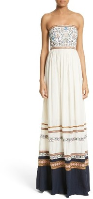 Women's Alice + Olivia Quyen Embroidered Maxi Dress $595 thestylecure.com