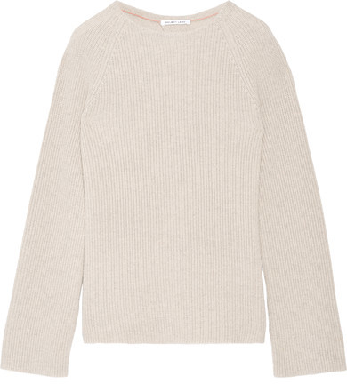 Helmut Lang Helmut Lang - Open-back Cotton And Cashmere-blend Sweater - Stone